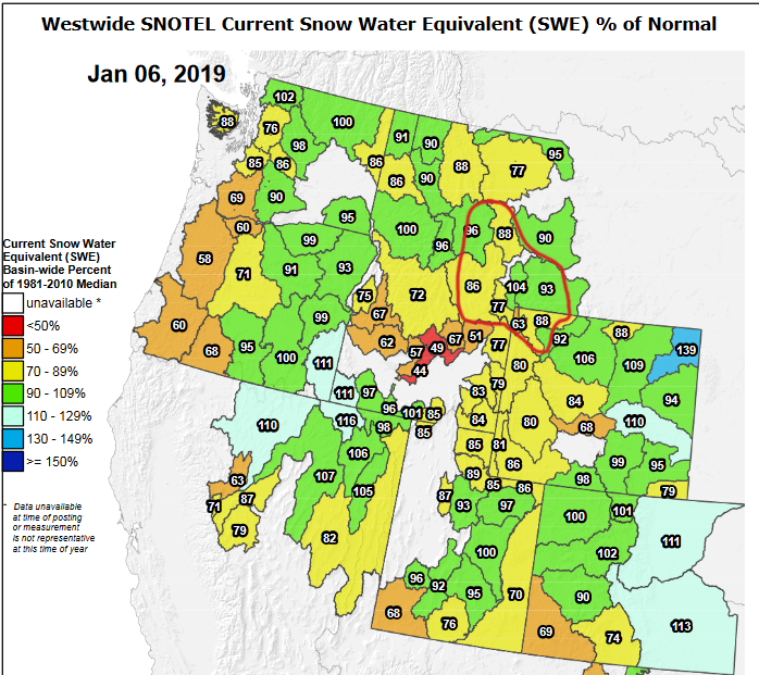 Early January Snowpack