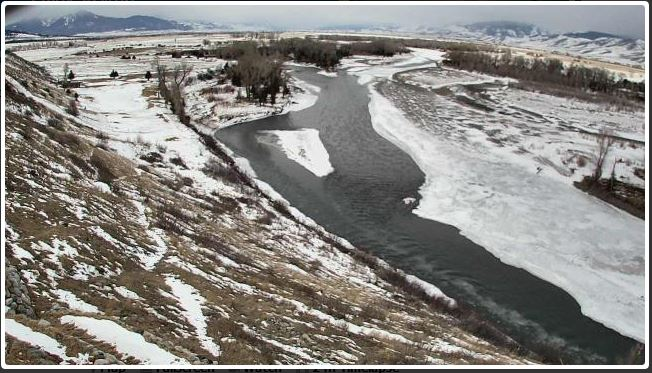 icy river webcam