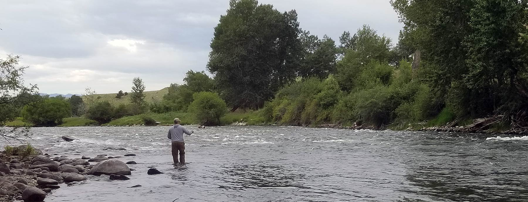 image showing angler fishing the boulder river