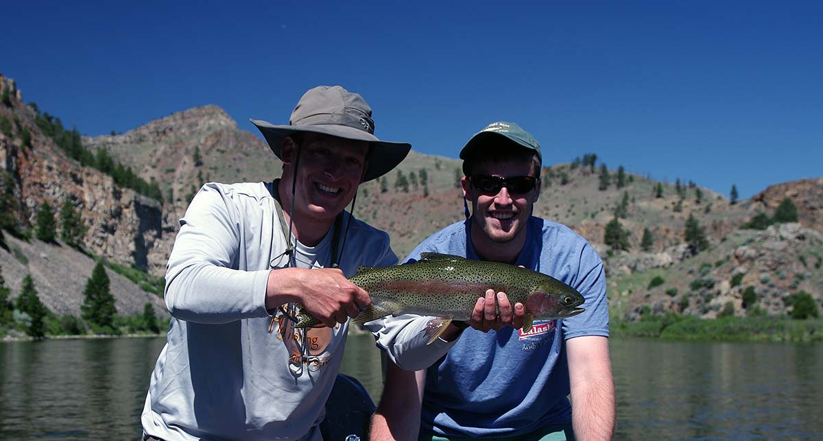 large june missouri river rainbow trout